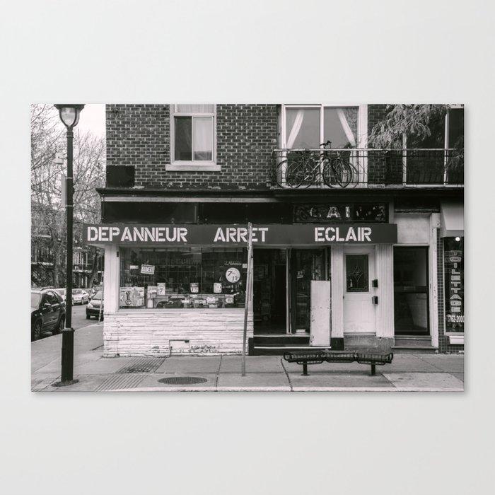 Depanneur Arret Eclair Canvas Print