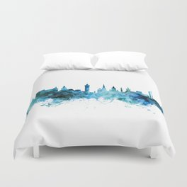 Glasgow Scotland Skyline Duvet Cover