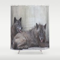 wolves Shower Curtains featuring Wolves by Twilight Wolf
