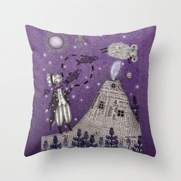 When the Little Prince came to Iceland Throw Pillow
