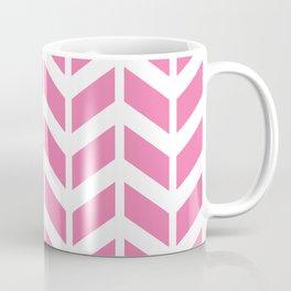 Pink and white chevron pattern Coffee Mug