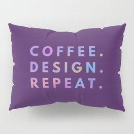 Coffee Design Repeat Pillow Sham