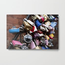 Newlywed vowing a romantic and everlasting love Metal Print