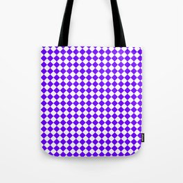 Small Diamonds - White and Indigo Violet Tote Bag