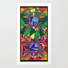 Stained Glass Pot Leaves Art Print