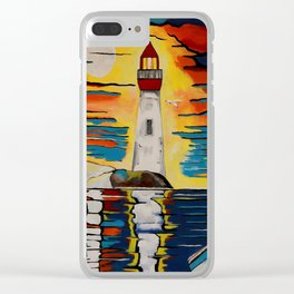 Lighthouse Beacon Clear iPhone Case