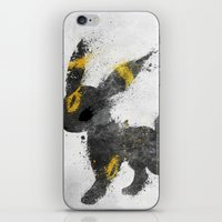 the moon iPhone & iPod Skins featuring Moon by Melissa Smith