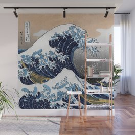 "Hokusai , "" The Great Wave off Kanagawa "" Wall Mural"