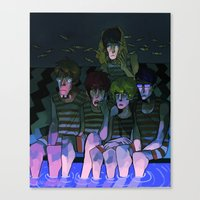 iwatobi Canvas Prints featuring FREE! IWATOBI SWIM CLUB again by Frank Odlaws