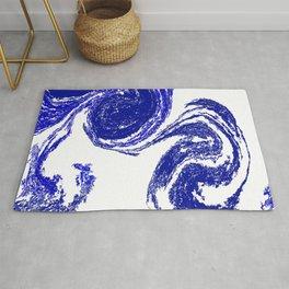 Rolling Blue Rug