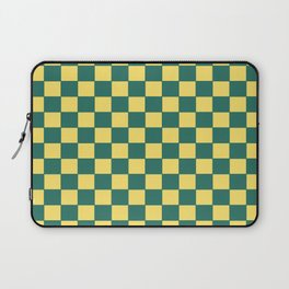 Checkers - Green and Yellow Laptop Sleeve