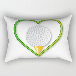 Love Golf Rectangular Pillow