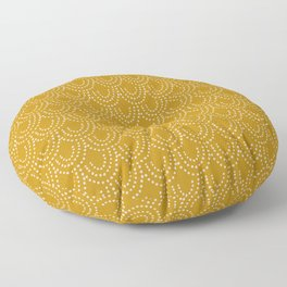 Dotted Scallop in Gold Floor Pillow