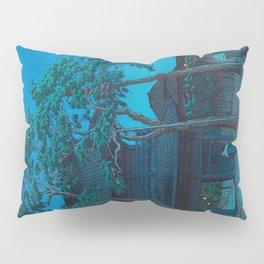 Vintage Japanese Woodblock Print Japanese Nara Park At Night Pillow Sham