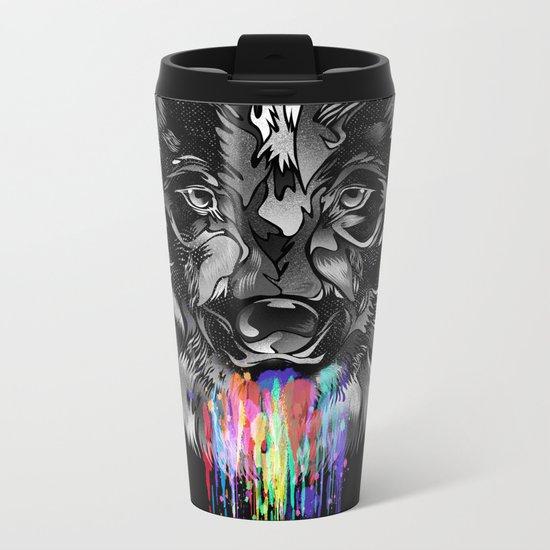 WILD WOLF Metal Travel Mug
