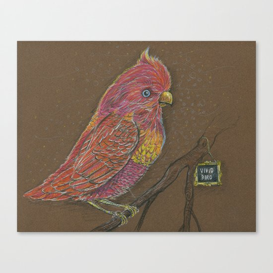 Vivid Bird Canvas Print