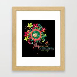 JILLY jellybug® dances a jelly jig around the jupiter trees in the jungle. Framed Art Print