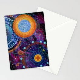 MOON AND PLANETS Stationery Cards