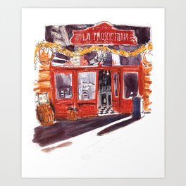 Shop Facade in Italy Art Print