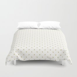 Gold Watercolour Bee Print Duvet Cover
