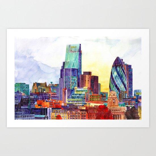 Sunshine in London Art Print