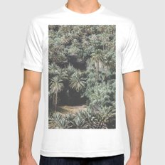 Palm Tree Jungle Mens Fitted Tee LARGE White