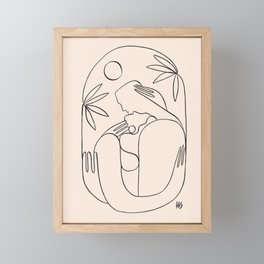 Drenched in love, kissed by the sun Framed Mini Art Print