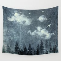 cloud Wall Tapestries featuring The cloud stealers by HappyMelvin