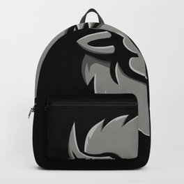 American Bison Head Metallic Icon Backpack