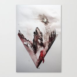 Red Cloak Canvas Print