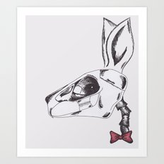 francine the rabbit queen. Art Print
