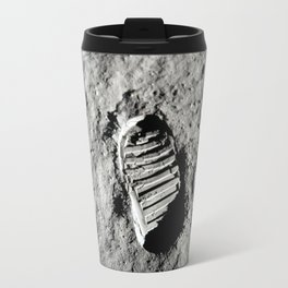 Boot Print on Moon Travel Mug