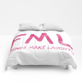 FML - Friends Make Laughter! Comforters