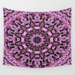 Kaleidoscope of purple flowers Wall Tapestry