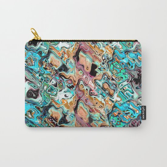 Colorful Distortions Abstract Carry-All Pouch
