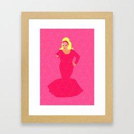 Divine Flamingo Framed Art Print