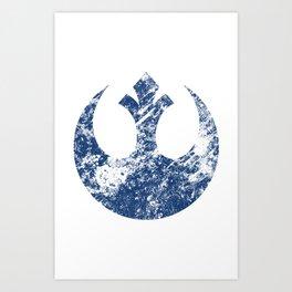 Rebel Alliance (Blue) Art Print