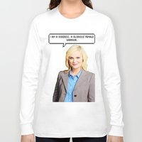 leslie knope Long Sleeve T-shirts featuring Leslie Knope by Hannah
