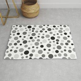 Black & White Polka Dot Pattern Rug