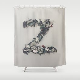 Letter Z in Paint Shower Curtain