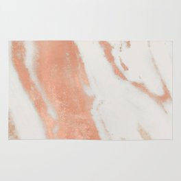 Marble Rose Gold Shimmer Light Rug