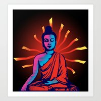 buddha Art Prints featuring Buddha by famenxt