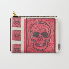 Four Red Skulls Offset Carry-All Pouch