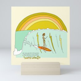 surf legend gerry lopez lightning bolt retro surf art by surfy birdy Mini Art Print