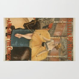 Vintage poster - A Night at the Circus Rug