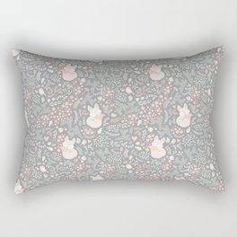 Sleeping Fox - grey pattern design Rectangular Pillow