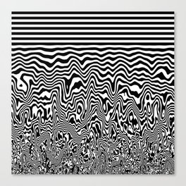 Dizzy Stripes Canvas Print