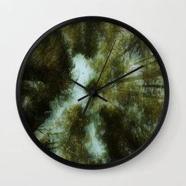 Grace Beneath The Pines Wall Clock