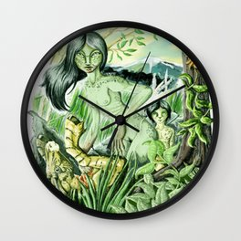 Lion Mother Wall Clock