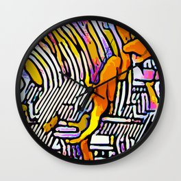 Kolage ~ Egyptian Gold ~ 8 Wall Clock